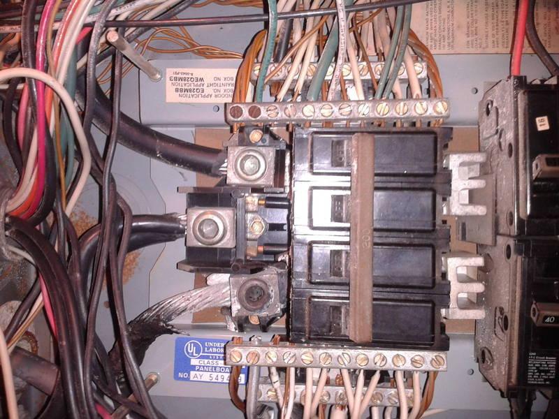 Main Panel burned lug