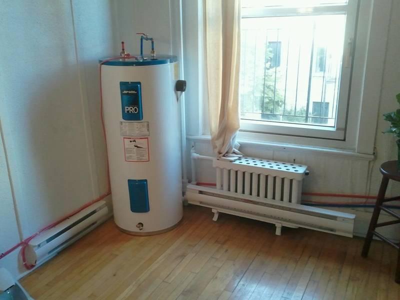 Landlord installed water tank in living room