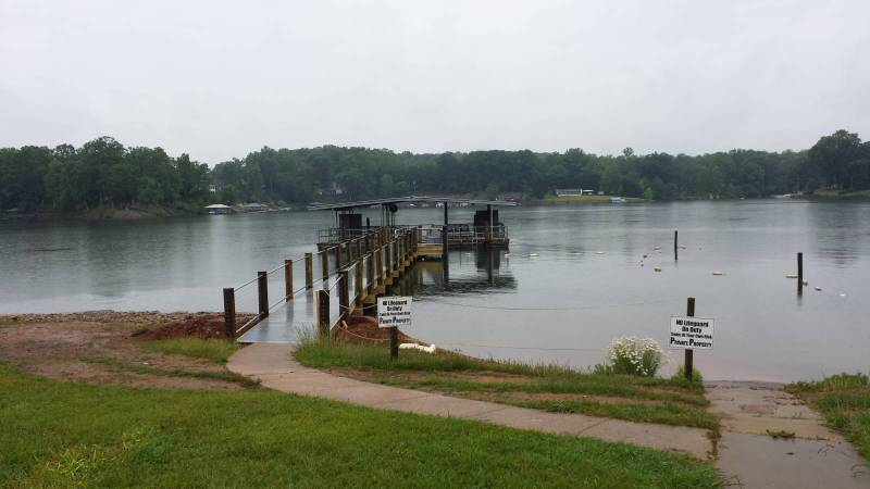 Boat dock and walkway