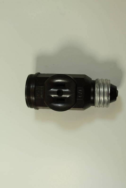 Light Fixture Outlet Adapter
