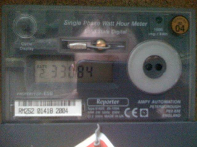 Irish Residential Electricity Meter Dual Tariff - Electronic