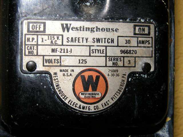 Westinghouse Safety Switch 2/2