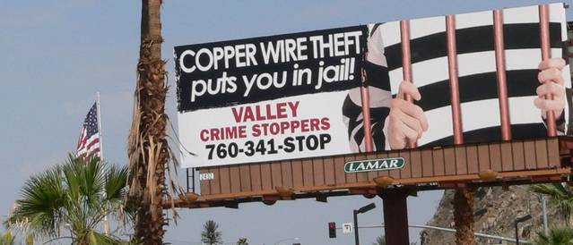 Copper Theft Warning Billboard