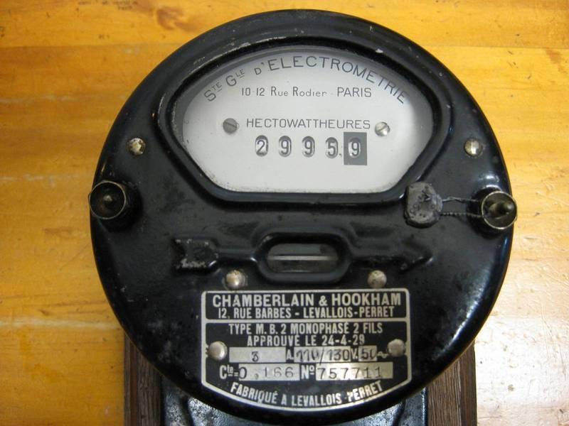 Hectowatt Hour meter EDF electricty