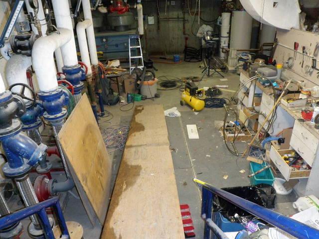 Messy boiler room