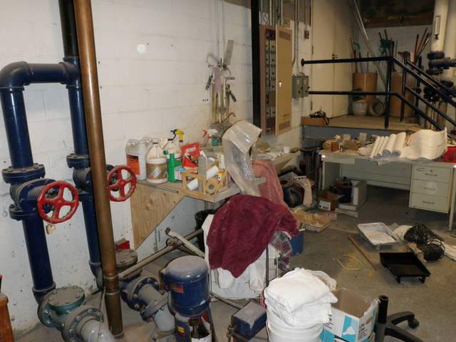 Messy boiler room 11