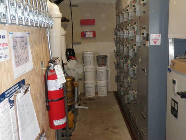 Cramped boiler room